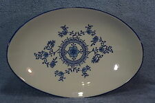 "Royal China Oriental Blue Flower Oval Vegetable Serving Bowl- 12 1/2"" x 9"""