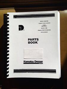 International Dresser 510B 515B Wheel Loader CHASSIS PARTS Manual Book REVISED