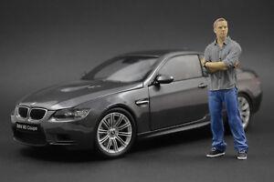 Brian O'Conner (Paul Walker) Fast & Furious Figure pour 1:18 BMW E90 E60 Kyosho
