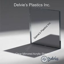 "1 Sheets 1/8"" CLEAR  Mirror Acrylic Plexiglass 24"" x  24"""