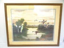 Vintage Charles E Murphy 1989 Duck Lake Pond Nature Landscape Watercolor Print