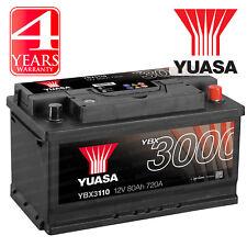 Yuasa YBX3110 Car Battery Calcium Black Case SMF & SOCI 12V 720CCA 80Ah T1