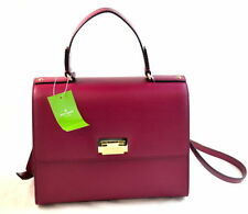 Kate Spade Doris Harwood Place Satchel Purse Red Plum Perfect Valentine Gift NWT