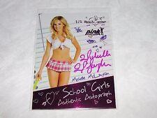 2015 Benchwarmer MICHELLE McLAUGHLIN Pink Archive SCHOOL GIRLS Auto/5 PLAYBOY