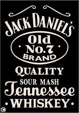 Primitive STENCIL Jack Daniel's Whiskey Vintage Advertising Man Cave Paint Signs