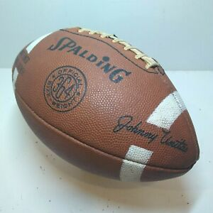 Vintage Spalding 364 Football Johnny Unitas HOF Colts Signature 364 Leather NFL