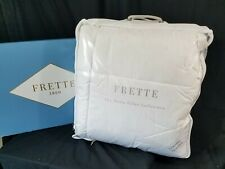 New Frette King Cortina bed topper Dowm Filler collection Feather Bed nwt $800