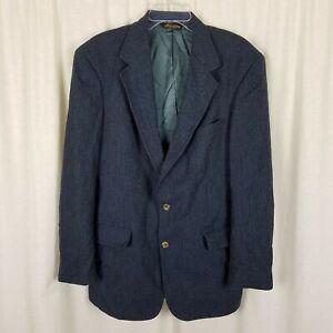 Vintage Brooks Brothers Herringbone Wool Sport Coat Jacket Blazer Mens 42 USA