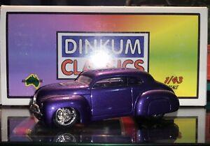 Dinkum Classics Paint Trial Pre-Production Ford 2-Dr Chop Plum Mad 1:43 Scale