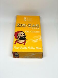 1 BOX zig-zag yellow 25 packs Rolling papers cigarette 50Leaves