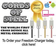 The Freedom Charger - Cords Of Steel for iPhone and Android (micro USB)