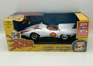 DIECAST 1:18 SCALE SPEED RACER MACH 5 RACE CAR ERTL AMERICAN MUSCLE
