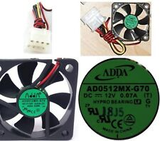 Hypro Bearing 50mm*10mm Fan ADDA AD0512MX-G70 12VDC/12V 4pin Molex 5010/52/5210