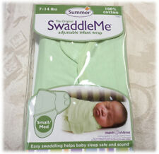 Summer Infant Swaddle Me SwaddleMe Baby Swaddling Wrap Cotton NIP SAGE GREEN S/M