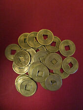 Practical Geocaching® – 13mm Brass Oriental Lucky Coins - 25 pcs - Free Freight!