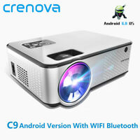 CRENOVA C9 projector LED 1280*720P Android 4K Video 4000 Lumens HDMI Home Cinema