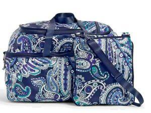 Vera Bradley Deep Night Paisley Convertible Travel bag set NWT free shipping