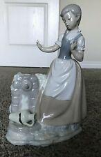 Lladro / Nao Figurine 0223 Girl With Broken Jar By Vincente Martinez Excellent