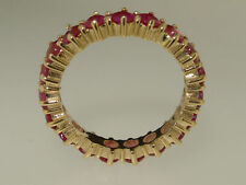 Anniversary Round Ruby Yellow Gold Fine Rings