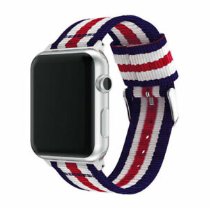 Nylon Sport Band Stripe Strap for Apple Watch Series 6 5 4 3-1 40/44mm iWatch SE