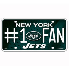 New NFL New York Jets Number #1 Fan Automotive Gear Car Truck License Plate