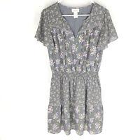 ARIAT Womens Exhale Dress Size Medium Short Sleeve Floral Western V-Neck NEW