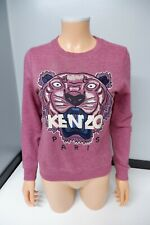 Kenzo Tiger Face Jumper Sweater Size S Small Uk 6 - 8 Womens Pink VGC