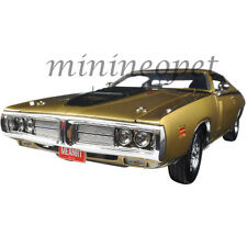 AUTOWORLD AMM1086 50TH ANNIVERSARY 1971 DODGE CHARGER R/T 440 1/18 DIECAST GOLD