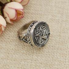 Magic Pentagram Pattern Rings Punk Style Jewelry Rings Unisex Charms Decor 1 Pc