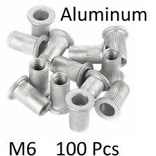 Practical 100pcs M6 Nutserts Zinc Plated Steel Thin Sheet Countersunk Rivet Nuts