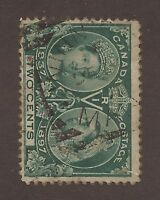 CANADA #52 USED SQUARED CIRCLE CANCEL JUBILEE FULLY DATED