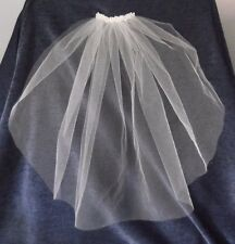 BEADED PEARL VEIL, BELOW SHOULDER LENGTH, CUT EDGE, IVORY COLOUR, NEW, Australia