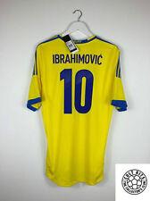 Sweden IBRAHIMOVIC #10 2013 *BNWT* Home Football Shirt (L) Soccer Jersey Adidas