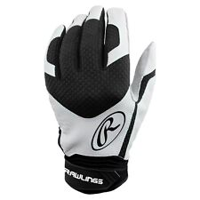 RAWLINGS EXCELLENCE PREMIUM BATTING GLOVES PAIR ADULT SMALL BLACK