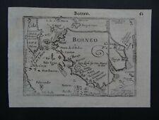 1609 LANGENES  Atlas Kaerius map  BORNEO - Indonesia - SE Asia