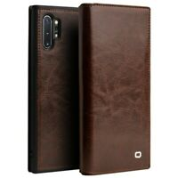 QIALINO Classic Cowhide Leather Case for Samsung Galaxy Note 10 Plus/10 Plus 5G