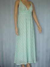 HOLLY &  WHYTE Ladies Maxi Dress Green White Spaghetti Strap Women's Size M (12)