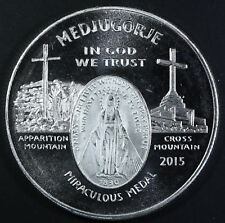 1 oz 999 Silver Round MEDJUGORJE Apparitions of Mary Queen of Peace with Capsule