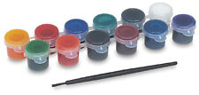 NEW GLASS PAINT STAIN KIT Acrylic Permanent 12 Color 1 Brush
