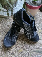 Mens Puma Cell Black Lace Up Running Athletic Sneakers Shoes US Size 8 Very Nice