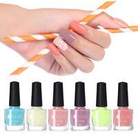 6ml UR SUGAR Colorful Nail Polish Light Pink Blue Nail Lacquer Pure Varnish
