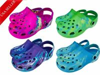 Women's Unisex Tye Tie Dye Clogs Comfort Garden Nurse Water Shoes 6-12
