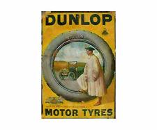 More details for dunlop tyres vintage advertising sign metal garage shed workshop retro plaque