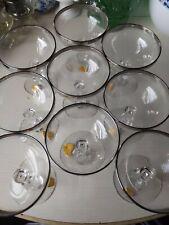 9 Tiffin Silver Rim Champagne Glasses Elegant Glass