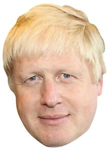 Boris Johnson British Prime Minister Single 2D Card Party Face Mask