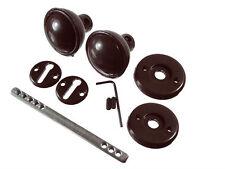 Paquet de 8 - plastique marron Set poignées serrure porte intérieur Plus TIGE