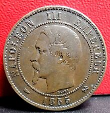 Very Nice 1855 B 10 Centimes from France KM# 771.2