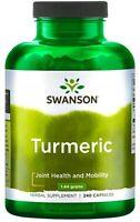 240 TURMERIC Curcumin Capsules Anti-Inflammatory Joints Support - Swanson