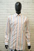 PAUL & SHARK Camicia a Righe Uomo Taglia 41 ( XL ) Maglia Camicetta Shirt Man