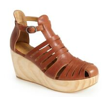 COCLICO SHOES HEART PLATFORM WEDGE STRAPPY SANDAL BOOTIES 40 $445